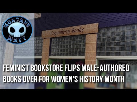 [News] Feminist bookstore flips male-authored books over for women