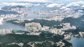 Stunning Approach and Landing into Hong Kong Airport Just After Sunrise. Boeing 777 Cathay Pacific thumbnail