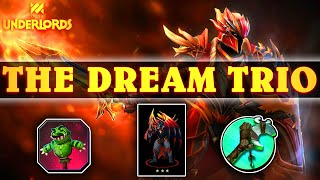 The DREAM TRIO = TARGET BUDDY + FORCE STAFF + 3★★★Dragon Knight! | Dota Underlords