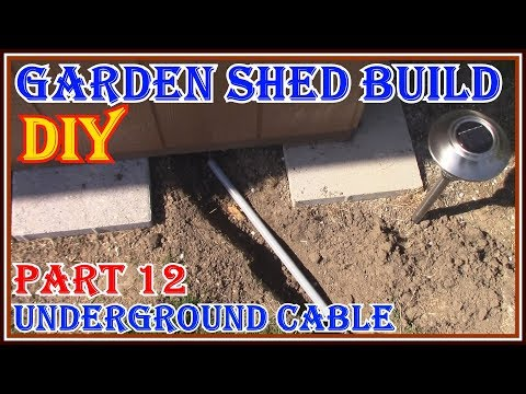 how-to-run-an-underground-electrical-cable---how-to-build-a-garden-shed-series