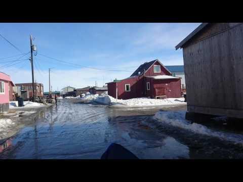 Spring atv drive around the streets of Nome, Alaska.