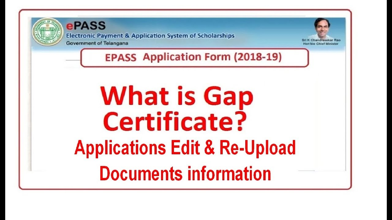 What Is Gap >> Discussion On Comments What Is Gap Certificate Telangana Epass Scholarships Fresh Renewal