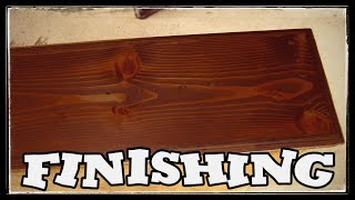 Conditionning and Staining Pine