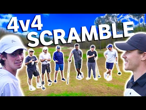 Epic 4v4 Scramble At Secluded Golf Club | GM GOLF