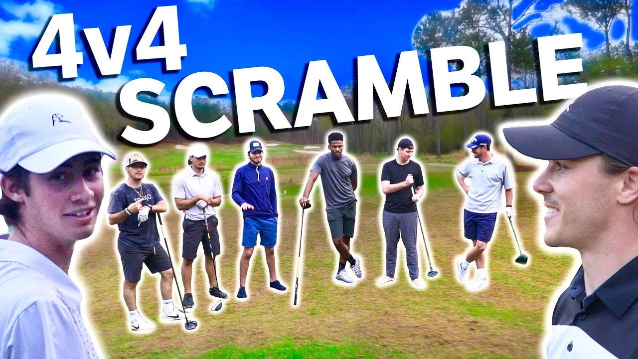 Epic 4v4 Scramble At Secluded Golf Club | GM GOLF