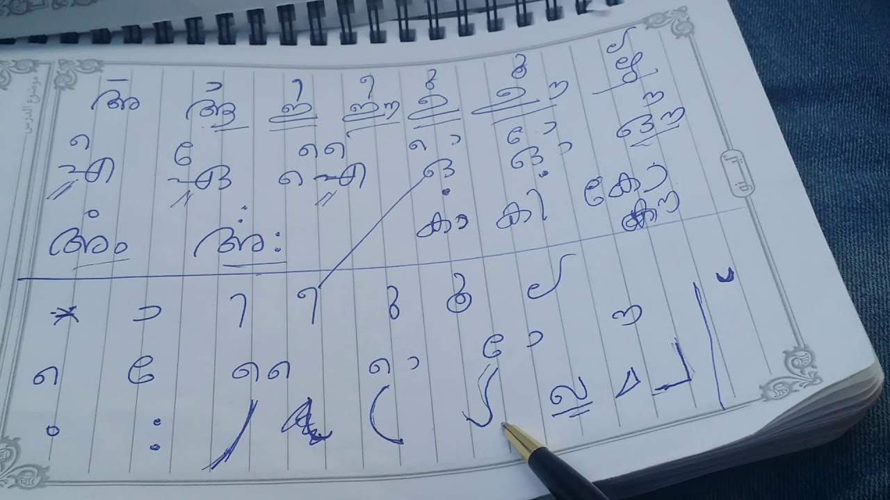 Clear methods of teaching all Malayalam Alphabets