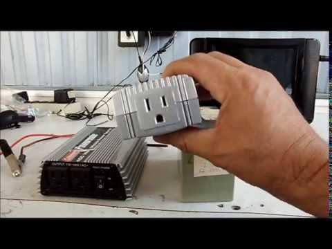 Como conectar un reproductor de musica en una bateria de 12v dc youtube - Instalar puerto usb en coche ...