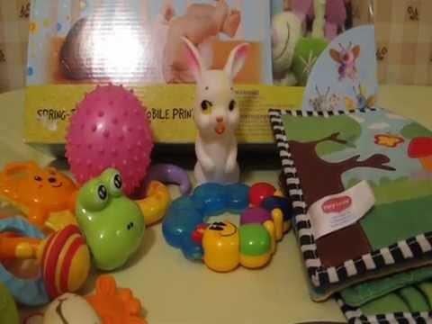 Развивающие игрушки для ребенка в 3-4 месяца