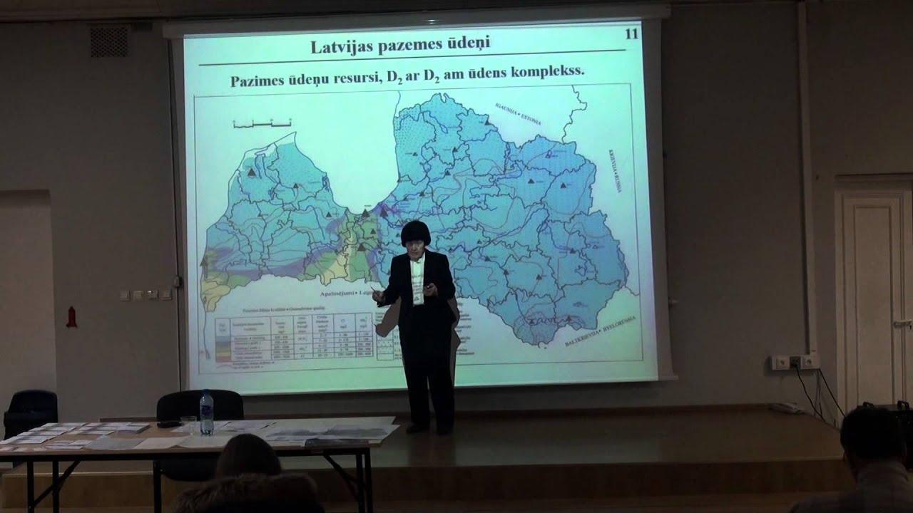 ŪDENS - Lekciju cikls 'Ģeoekoloģija un mēs Latvijā' (Ludmila Kartunova). 15.03.2016