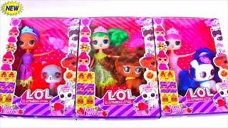 NEW СЕМЕЙКА Куклы ЛОЛ Сюрприз и ПЕТС c ВОЛОСАМИ! Мультик LOL Families Surprise Hairgoals unboxing!