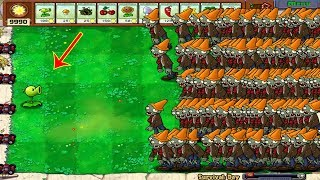 1 Peashooter vs 999 Conehead Zombie Hack Plants vs Zombies