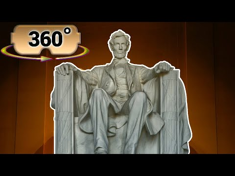 360 / VR (4K) The Lincoln Memorial Tour (No Comments) w/ Spatial Audio – Washington DC, USA