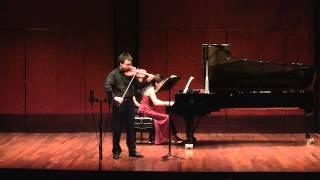 Kejia He, Brahms Violin Sonata No. 1 in G Major, Op. 78 (I. Vivace ma non troppo)