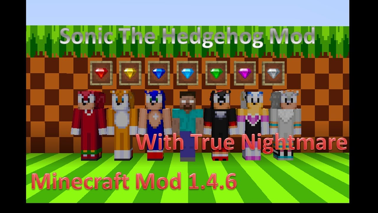 Minecraft Mod Sonic The Hedgehog Mod YouTube - Skins para o minecraft sonic