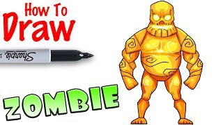 How to Draw the Big Zombie | Fortnite
