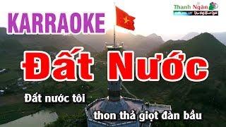 Đất Nước Karaoke | Beat Chất Lượng Cao | Nhạc Sống Thanh Ngân