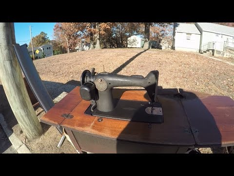 TRASH PICKING ANTIQUE SEWING MACHINE!