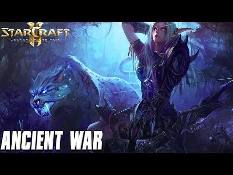 Ancient War - Night Elves Sneaking Around - Starcraft 2 Mod