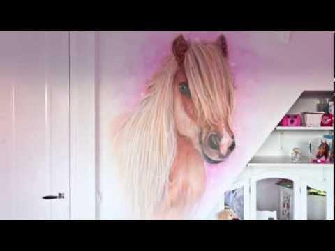 Paard Muurschildering Kinderkamer
