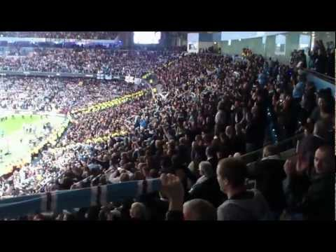 Manchester City - Manchester United: city fans celebrating after the game