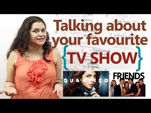 Talking about your favourite TV  in English  English conversation Lesson