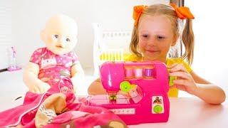 Настя і Лялька Пупс яка багато їла і стала гігантом / Nastya and giant funny baby doll