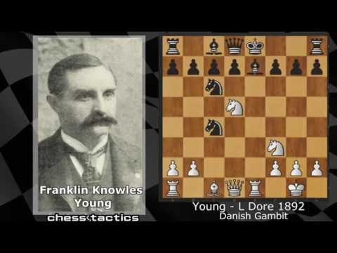 Amazing sacrifice chess game by young L- Dore 1892(chess tactics)