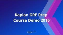 Kaplan GRE Prep Course Demo 2016