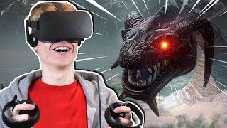 FIGHTING A HUGE SEA MONSTER IN VR! | Crowe: The Drowned Armory VR (Oculus Touch Gameplay)