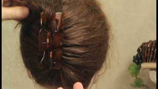 Easy hairstyles.  Why use an ugly plastic claw to put up your hair?