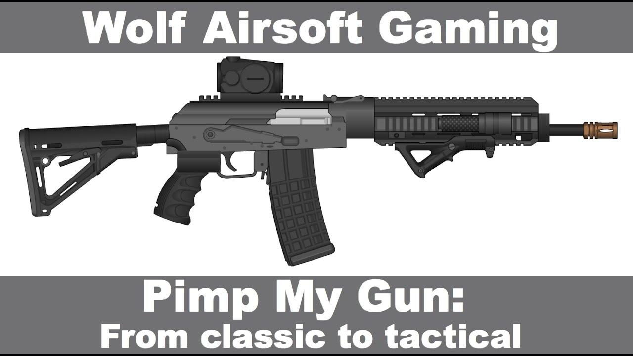 Pimp My Gun: Classic AK47 to Tactical (Episode-1) Airsoft Custom Upgrade