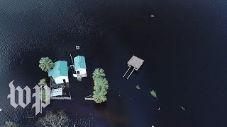 Florence's devastation from above: Flooding in Carolina Beach, N.C.