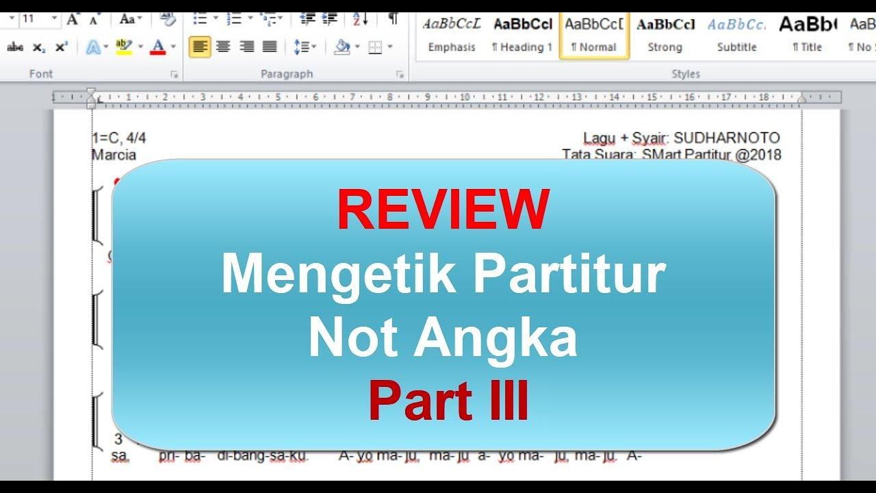 Review Mengetik Notasi Angka Part III