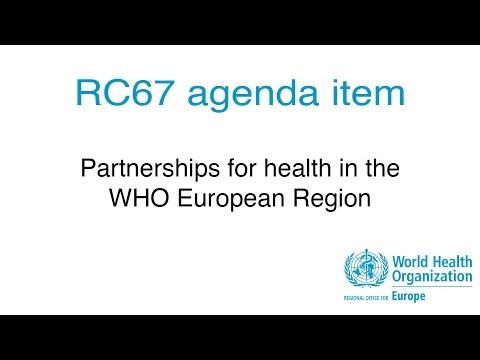 RC67 agenda item: Partnerships for health in the WHO European Region