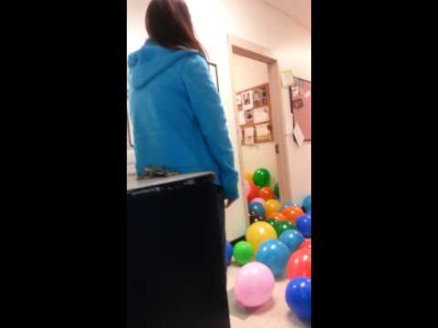 Balloon prank on boss