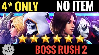 4* Only Community Choice Boss Rush Challenge 2 - NO ITEMS!