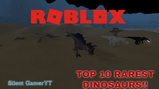 Roblox Dinosaur Simulator Top 10 Rarest Dinos Intercambiables Agosto 2017