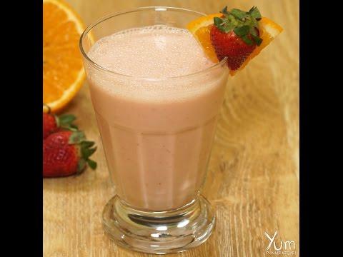 Homemade Strawberry Orange Sunrise Smoothie