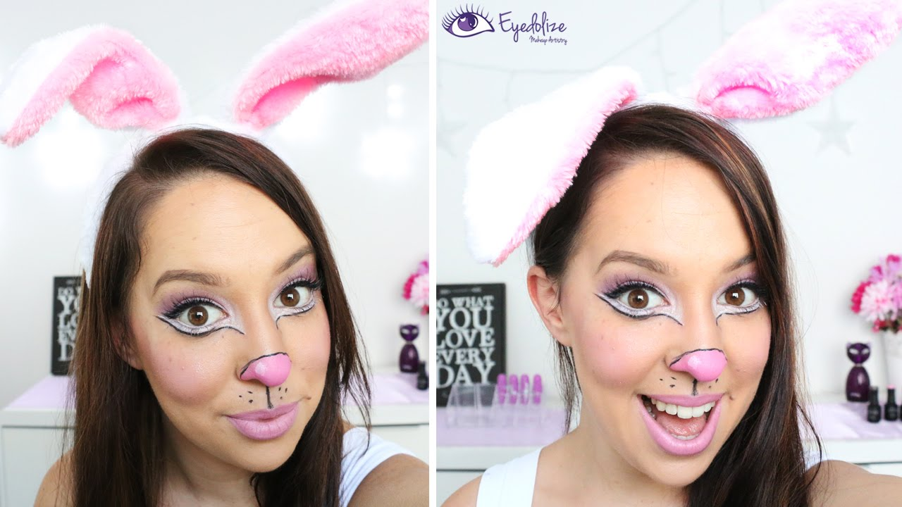 Simple Cute Easter Bunny Makeup Tutorial by EyedolizeMakeup
