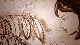 サンドアートで描く、コーヒーストーリー【March】