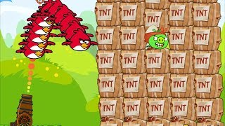 Angry Birds Collection Hacked 1 - THROW STONE TO 1000 TNT! HIT THE GIANT BOSSES!