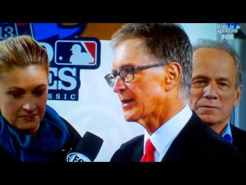 Red Sox John Henry SKETCHED OUT by smoke on field!
