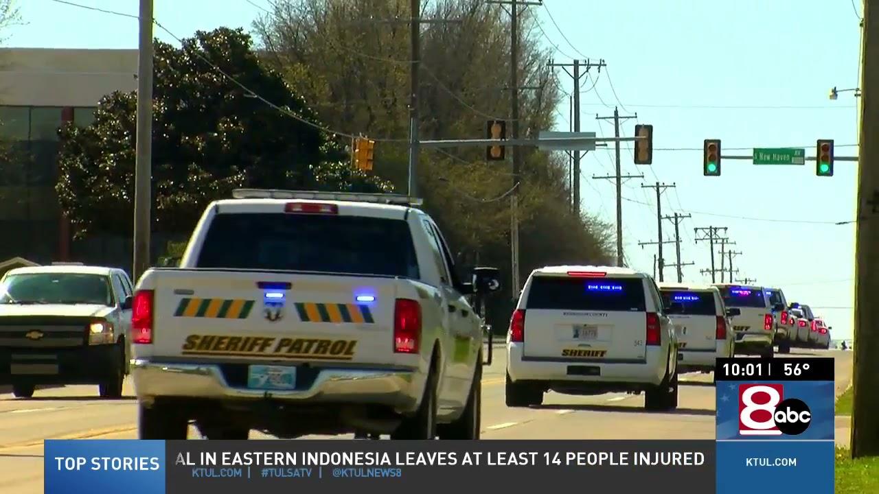 Download Multiple law enforcement agencies help escort body of Washington County deputy
