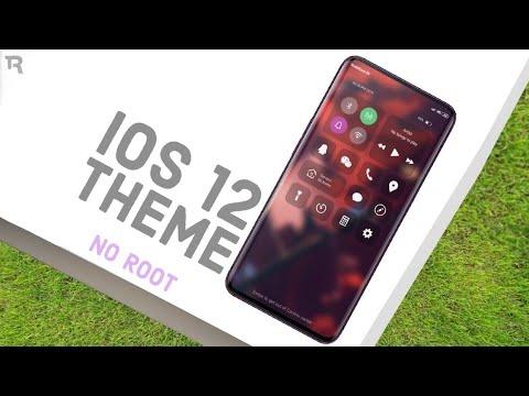 Ios 12 New Amazing Theme For Redmi Note 4567 Pro Youtube
