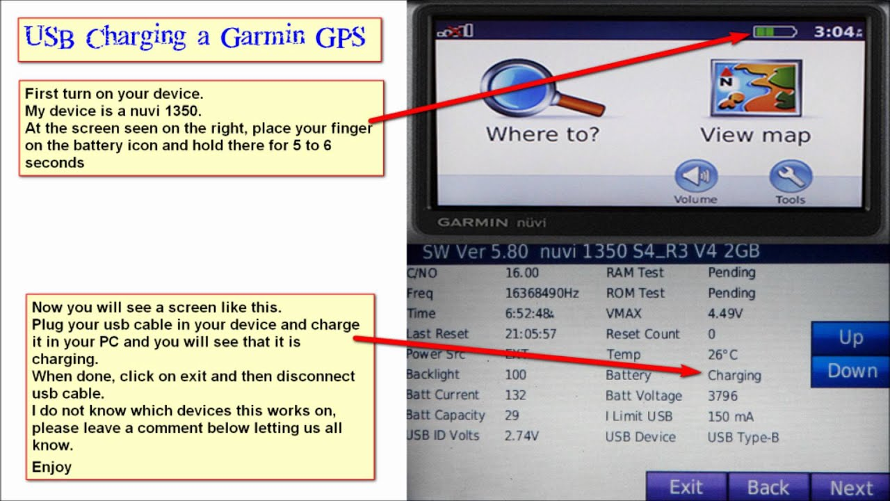 usb charging a garmin gps with pc youtube mini usb charger wire diagram usb car charger [ 1280 x 720 Pixel ]