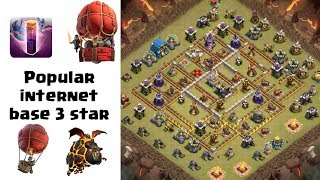TH12 Popular Internet Base 3 Star Ep2 | Bats+Lava+Loons | Clash of Clans