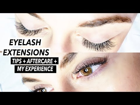 EVERYTHING YOU NEED TO KNOW ABOUT LASH EXTENSIONS | Tips + Aftercare + My First Time