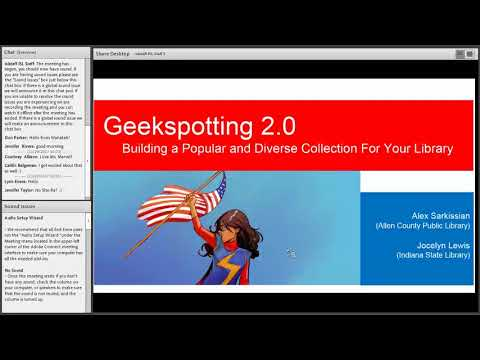 Geekspotting 2.0:  Building a popular and diverse collection for your library 11 29 2017