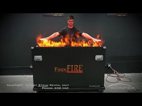 FauxFire Rental 5 Foot Steam Unit - simulated fake flame system