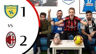 SI VOLAA!!!! +4 (per una notte) - CHIEVO 1-2 MILAN | LIVE REACTION GOL HD